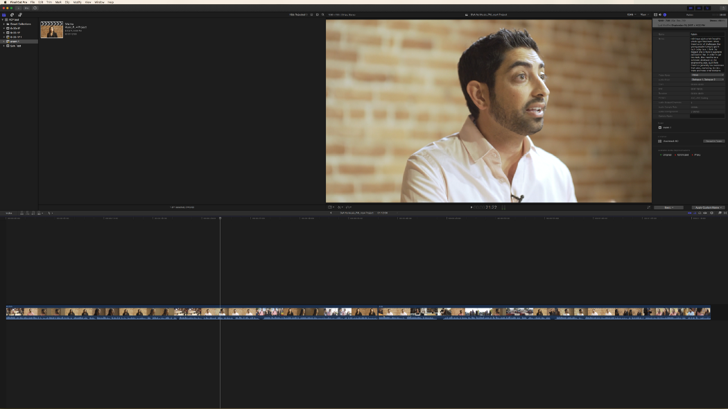 The Final Cut Pro X sequence will connect to the reference media file
