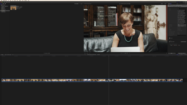 A successful import in FCPX