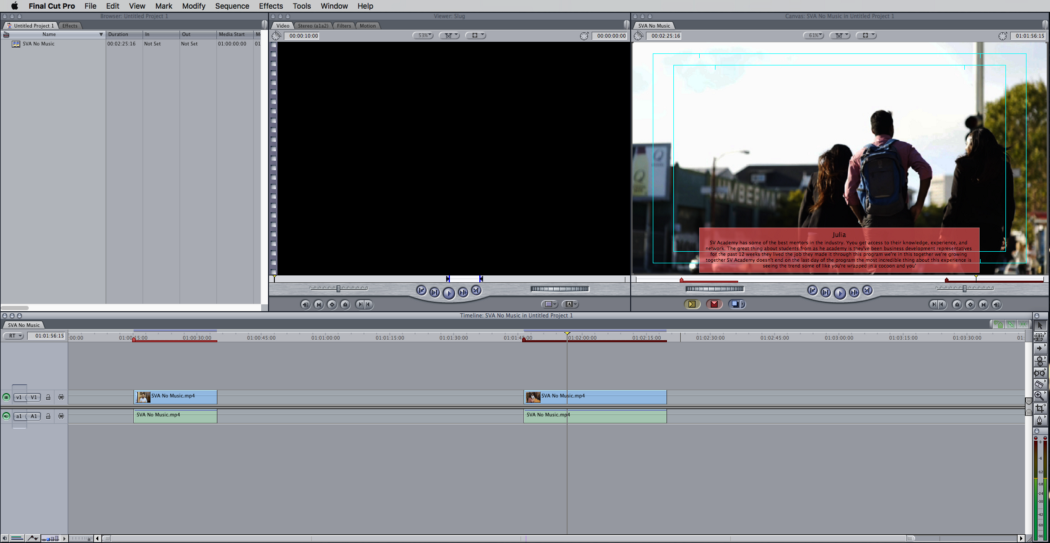 Notice how the transcripts align with the clips, making identifying and cutting clips super easy